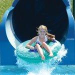 Blue Tunnel Slide at Santa's Splash Down WaterPark