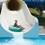 Beige Slide  at Santa's Splash Down WaterPark
