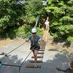 Bridge to start the zip lining course