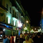 Rue Massena by night. Ajoupa on the left