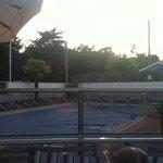 sunset at 10.30pm La floret pool
