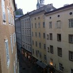 View from window right in the centre of old town