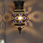 Lovely lamp in stairwell