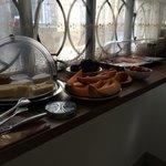 Wonderfull variety of food in the breakfast room