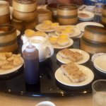 Evidence of satisfied dim sum diners.