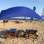 Hotels private beach area