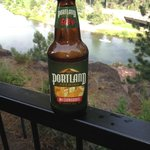 A view of the Deschutes River and one of Oregon's finest brews from out room