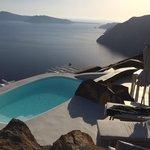 private pool in villa emidali