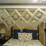 Handmade canopy over bed