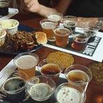 Excellent BBQ sampler at Breckenridge Brewery & Beer Samples