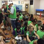 waiting room before Tuna auction