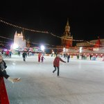 Ice rink in Red Square