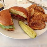 Bacon burger with housemade chips