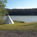 Teepee by the river