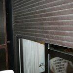 Broken shutter from outside room