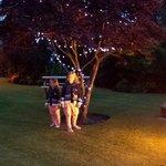 Lodge Garden at Night