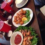 Peel & eat shrimp, corn nuggets & chowdaaaa!