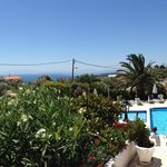 Panoramic view from sea view to inland view