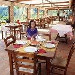 The restaurant veranda where we ate breakfast and dinner - gorgeous!