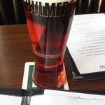 Nice Bulmers whilst reading through the menu