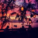 Meraviglioso tramonto sul mare direttamente dalla terrazza dell'hotel