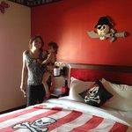 Colorful walls & Pirate decor