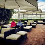 Mr and Mrs Caddie, diamond members were the first guests to try our new terrace! So please do th