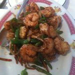 Salt and Chilli Prawns - absolutely delicious!
