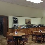 Breakfast area, six 4-top tables total in area