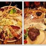 Grilled seafood & grilled entrecote