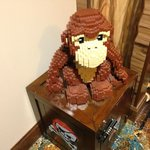 Great Lego Monkey attached to Treasure Safe