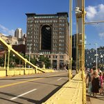 View from the Roberto Clemente Bridge