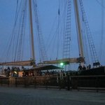 The Clipper City docked before start of sail
