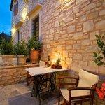 Romantic corner of the patio
