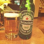 Heineken in the lounge