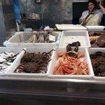 seafood alive at mercados abastos