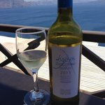 Assyrtico White Wine with Ocean View