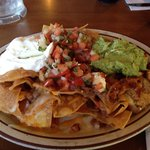 Chicken Nachos (very good).