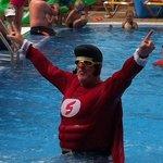 Big daddy aka super santa doing aqua fit