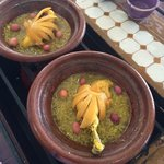 Chicken tajine with lemon and red olives