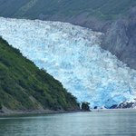 The glacier as seen from the beach where you start your kayak trip