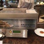 """Pancake """"printer"""" at the buffet."""