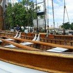 Beautiful wooden life boat