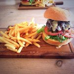 The Cumbrian Burger & fries, gorgeous & fresh!