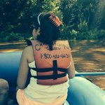My little one Emily experiencing her first raft trip!!! Was excited !! Amazing !!