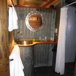 Rustic bathroom was lovely