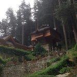 Crazy village in mountains