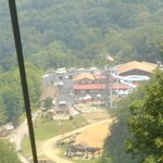 A view down on Ober from the alpine ski lift.