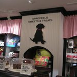 On site candy store and dog treat store.