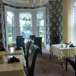The cheery breakfast room